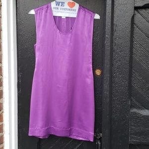 Helmut Lang Mere Layered Back Silk Slip Dress
